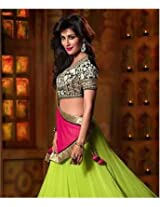Poly Georgette Lehenga Set with Lining