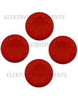Third Party Xbox 360 PS3 High Quality Anti-Slip Silicone Cap Cover - 4 PCS (Red)