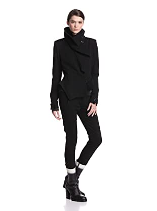 Ann Demeulemeester Women's Asymmetrical Jacket (Black)
