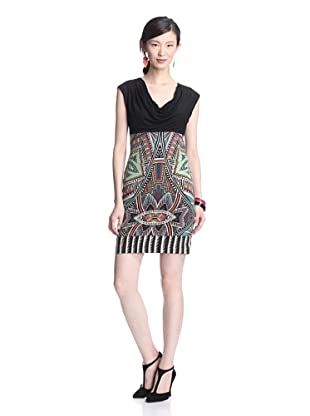Nicole Miller Women's Spirited Cowl Neck Dress (Multi)