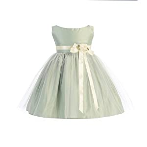 Sweet Kids Baby Girls Vintage Satin and Tulle Pageant Dress