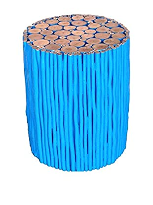Asian Art Imports Blue Stick Stool