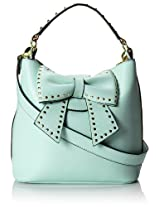 Betsey Johnson Hopeless Romantic Bucket Shoulder Bag,