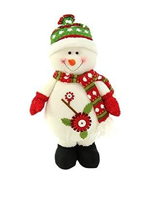 Decoracion Navideña Figura Navidad Muñeco Nieve De Pie