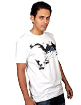 UberPlush Men's Casual T-Shirt UPRN10019WBM ( White )
