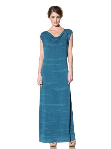 Nola Z Women's Sleeveless Maxi Dress with Cowl Neck (Teal)