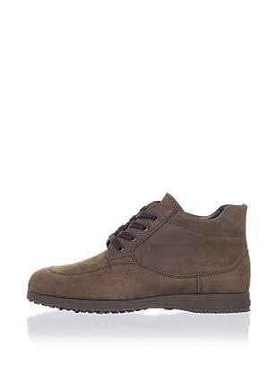 Hogan Men's Nubuck Ankle Boot (Brown)
