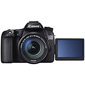 Canon EOS 70D 20.2MP Digital SLR Camera (Black) with EF-S 18-135mm IS STM Kit Lens