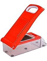 Spice Plastic Manual Chopper, 4-Piece, Red