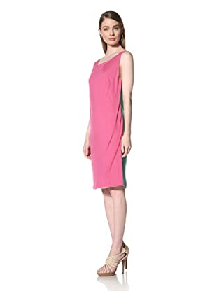 Loomstate 321 Knits Women's Akan Dress 4 Layer Tank Dress (Grey/Pink/Green)