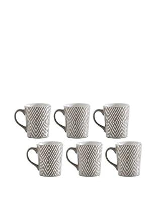 Shiraleah Set of 6 Grey SoHo 16-Oz. Mugs