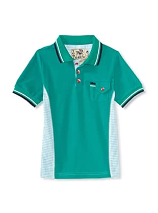 Tom and Drew Boy's Gingham Polo (Putting Green)