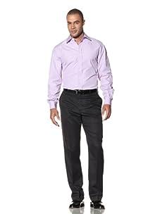 Yves Saint Laurent Men's Firenze Italian Collar Dress Shirt (Lilac)
