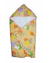 Baby hooded Wrap/ Swaddler - Orange