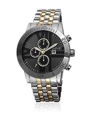 August Steiner Uhr mit japanischem Quarzuhrwerk  schwarz/goldfarben/silberfarben 47 mm