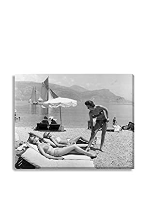 Photos.Com By Getty Images Sunbathing On Beach By Bert Hardy/Picture Post On Canvas