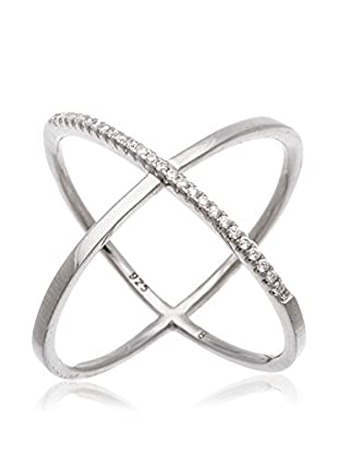 Bliss CZ Sterling Silver X Ring