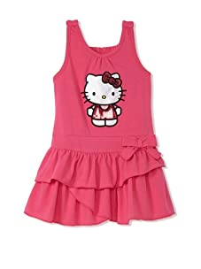 Hello Kitty Girl's 2-6X Tiered Applique Dress (Fuchsia Purple)