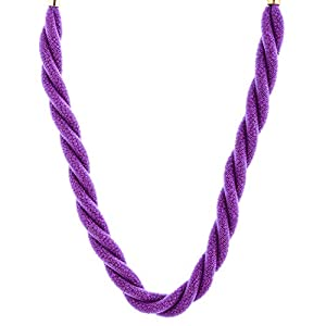 The Crazy Neck Purple Color Fiber Wire Twist Neck Piece Necklace