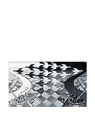 ArtopWeb Panel de Madera Escher Day And Night 34x58 cm