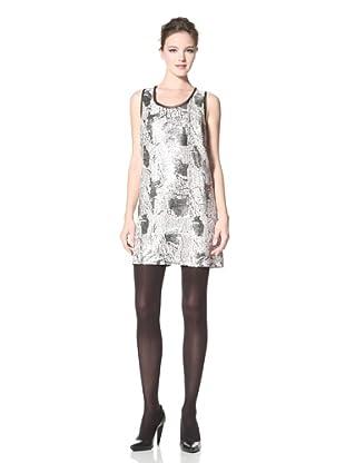 Donna Morgan Women's Blake Snake Sequin Dress (Platinum Multi/Black)