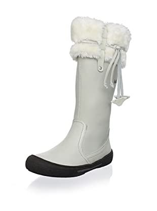 Billowy Kid's Cuffed Tall Boot (White)