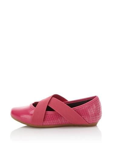 Pampili Kid's Mariana 251 Sequined Ballet Flat (Fuchsia)