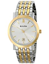 Bulova Classic Analog Grey Dial Unisex Watch - 98B221