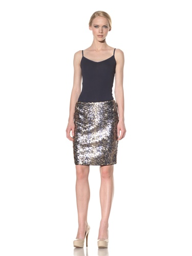 Rachel Roy Women's Sequin Skirt (deep sea)