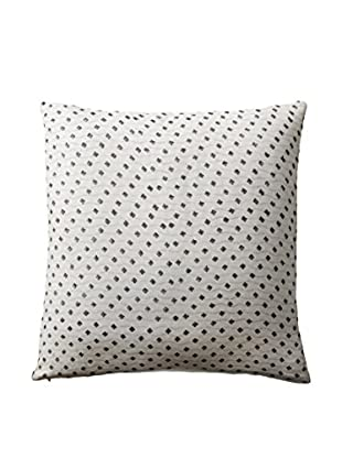 Shades of India Rapids Pillow Cover, Natural/Charcoal