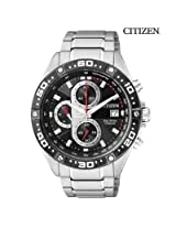 Citizen Eco Drive Chronograph Daily Alarm Mens Watch At4004 52E