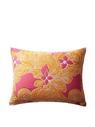 Trina Turk Floral Standard Sham, Yellow/Pink