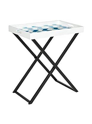 Safavieh Abba Tray Table, Blue/White
