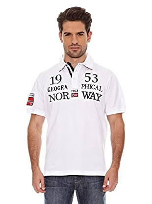Geographical Norway Polo Manga Corta Kani Ss Men 100 (Blanco)