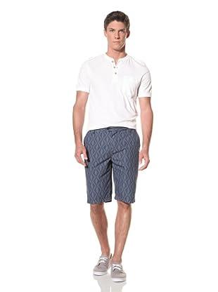 Benson Men's Woven Fancy Short (Print 4 (Navy/Blue))
