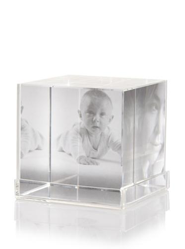 Philippi Cubic Crystal Photo Holder, Large