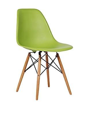 Set De 2 Sillas Wooden Color Edition Verde Kaki