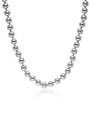 Perldor - 60650198 Collar de mujer Gris de ley con perla natural Gris 45 cm