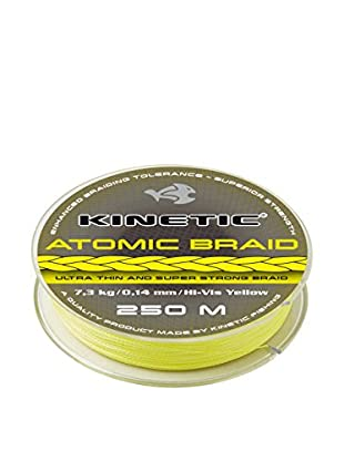 Kinetic Angelschnur Atomic Braid 0,30 mm Hi-Vis gelb