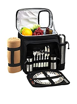 Picnic At Ascot London and Coffee For 2 with Blanket, Black