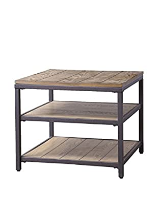 Baxton Studio Caribou Wood And Metal End Table, Natural