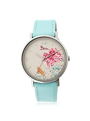 Boum Women's BOUBM3002 Mademoiselle Powder Blue/White Rubber Watch