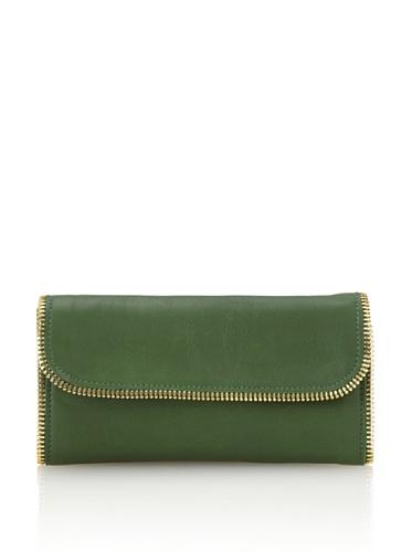 Linea Pelle Women's Dylan All-Around Zip Wallet (Emerald)