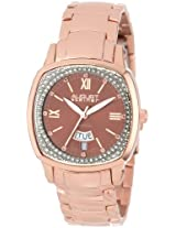 August Steiner Women's AS8016RG Day Date Diamond Swiss Quartz Bracelet Watch