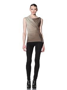 Rick Owens Lilies Women's Drape Front Shirt (Moss/Dust)