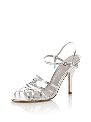 Delman Women's Ellie Sandal (Silver)