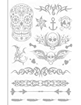 Metallic Silver Jewelry Inspired Temporary Bling Tattoo by Eufouria Inc. YW-015