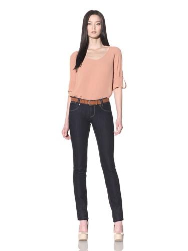 DL 1961 Premium Denim Women's Kelly Slim Straight Jeans (Eclipse)