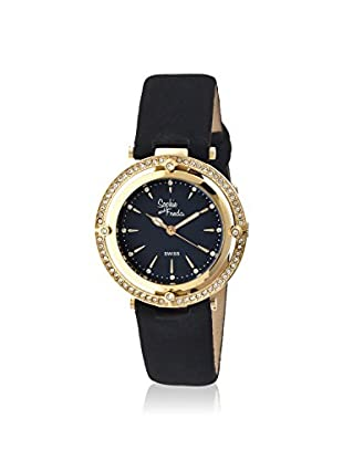 Sophie and Freda Women's SF1404 Tuscany Black/Gold Leather Watch