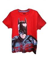 Batman Red Half Sleeve Tee